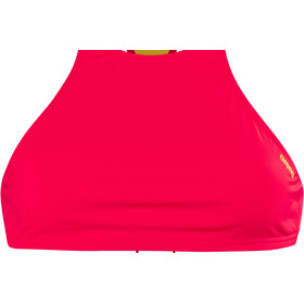arena Think Crop Top Women fluo red-yellow star